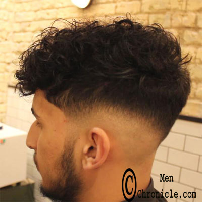 Curly Wavy Faded Undercut Mens Favorite Haircut