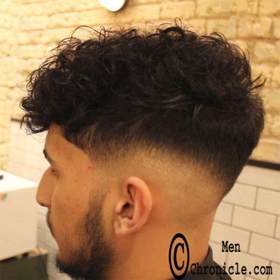 Curly Wavy Faded Undercut Mens Favorite Haircut