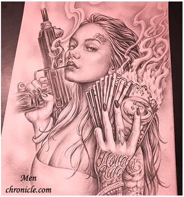Chicano Tattoo Designs For Men