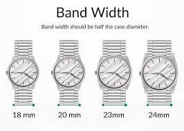 Watch Band Width Size Chart