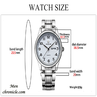 Watch Size Guide Wrist Male
