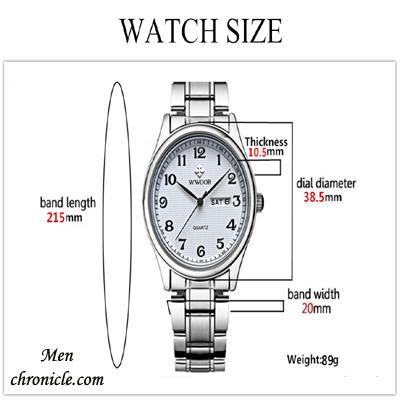 Watch Size Guide Wrist Male