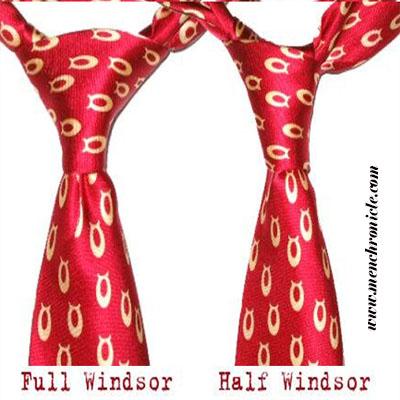 Full Windsor And Half Windsor Knots